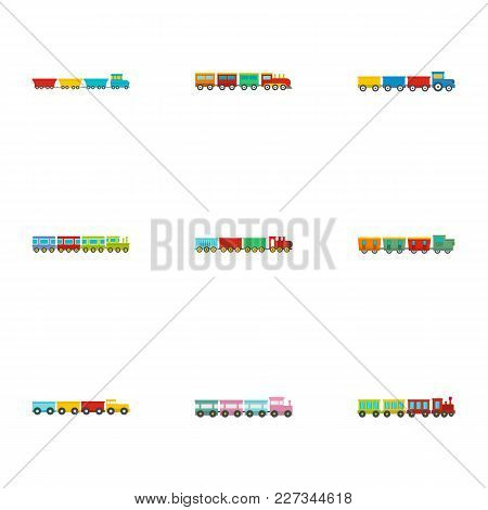 Children Toy Icons Set. Flat Set Of 9 Children Toy Vector Icons For Web Isolated On White Background