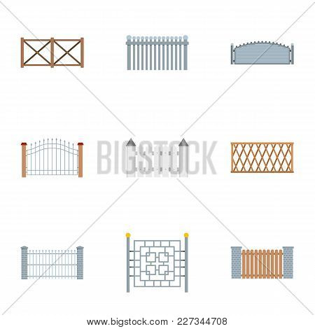 Fencing Icons Set. Flat Set Of 9 Fencing Vector Icons For Web Isolated On White Background