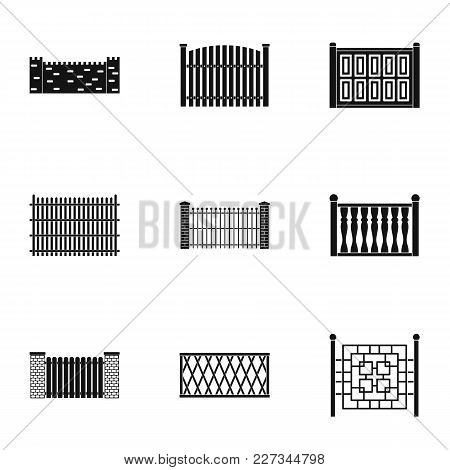 Gate Icons Set. Simple Set Of 9 Gate Vector Icons For Web Isolated On White Background