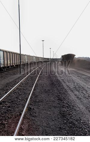 Railway Siding For Transporting Processed Coal Ore