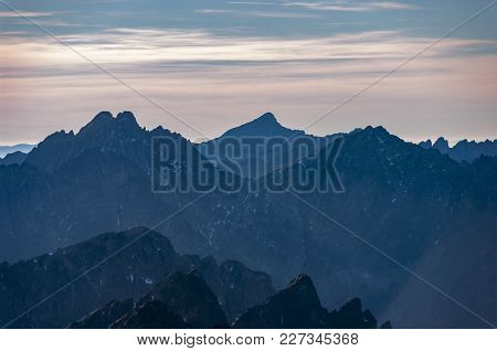 A View From Lomnica To The Peaks Of The Slovak High Tatras.
