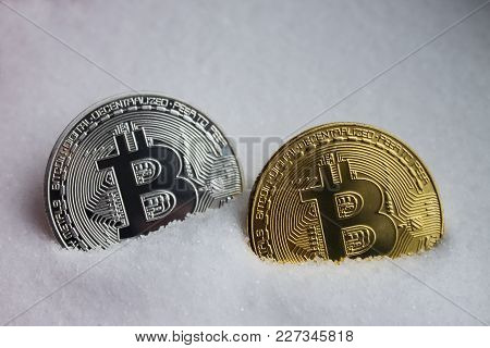 Two Bitcoins Are Golden Second Silver, Buried In Salt|mining|crypto