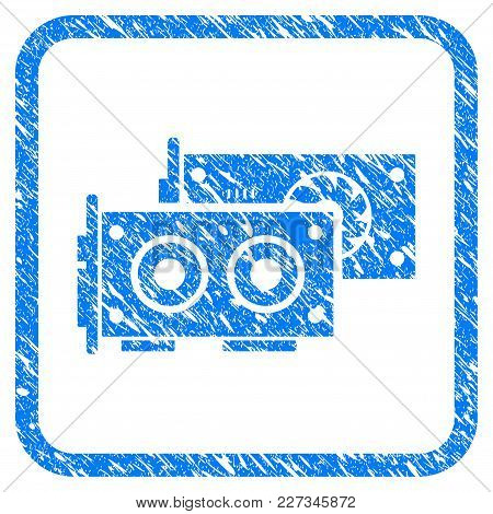 Gpu Cards Rubber Seal Stamp Imitation. Icon Vector Symbol With Grunge Design And Dirty Texture In Ro