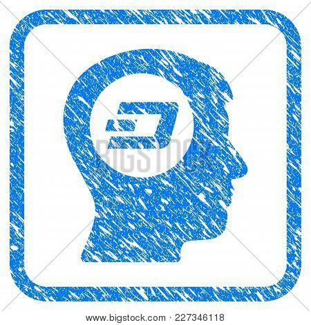 Dash Think Rubber Seal Stamp Imitation. Icon Vector Symbol With Grunge Design And Unclean Texture In