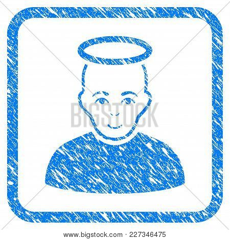 Holy Man Rubber Seal Stamp Imitation. Icon Vector Symbol With Grunge Design And Unclean Texture Insi