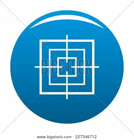 Square Objective Icon Vector Blue Circle Isolated On White Background
