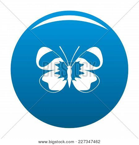 Light Butterfly Icon Vector Blue Circle Isolated On White Background