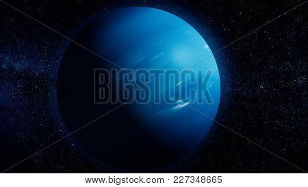Solar System - Neptune. It Is The Eighth And Farthest Planet From The Sun In The Solar System. It Is