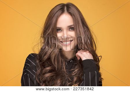 Beauty Portrait Of Young Natural Girl.