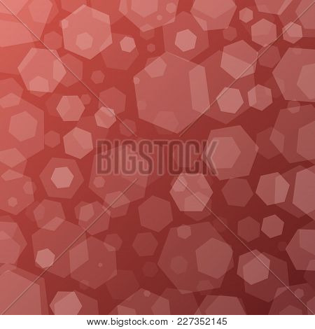 Geometric Abstract Techno Background With Hexagons. Template Wallpaper Design. Simple Gradient Backg