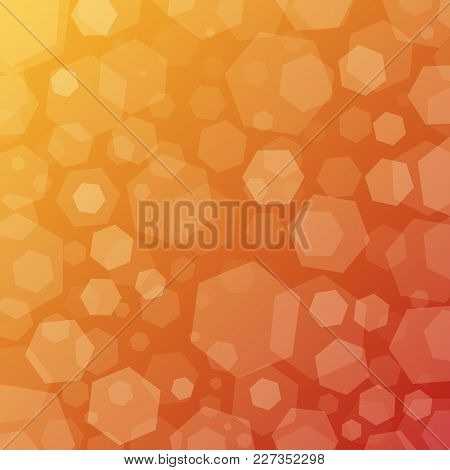 Sunny Geometric Abstract Techno Background With Hexagons. Template Wallpaper Design. Simple Gradient