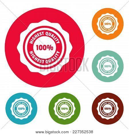 Highest Quality Logo. Simple Illustration Of Highest Quality Vector Logo For Web