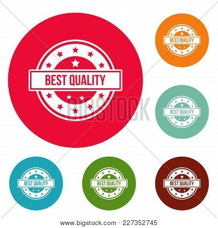 Quality Logo. Simple Illustration Of Quality Vector Logo For Web