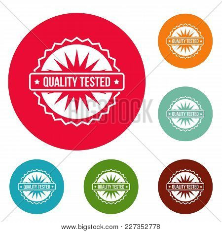 Quality Tested Logo. Simple Illustration Of Quality Tested Vector Logo For Web