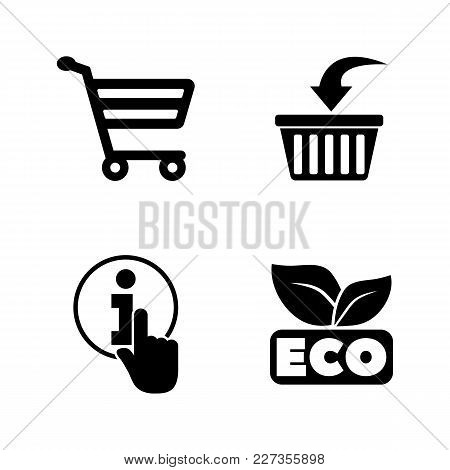 Online Shopping. Simple Related Vector Icons Set For Video, Mobile Apps, Web Sites, Print Projects A