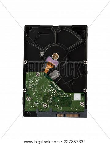 Internal Desktop Hard Drive Isolated On White Background