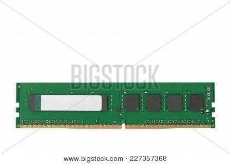 Ram 4gb Ddr4 Memory Modules Isolated On White Background, Main Component Of Desktop Computer.