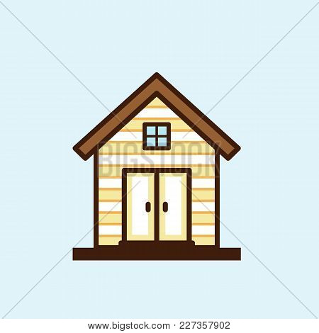 House In Flat Style Isolated On White Background. Vector Stock.