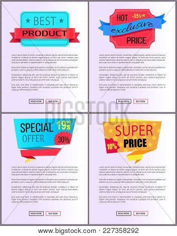 Sale Special Offer Order Now Web Poster With Push Buttons Read More And Buy Now. Vector Illustration