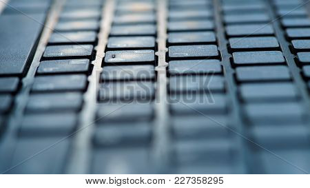 Close Up Of Keyboard Of A Modern Laptop, Pc Keyboard, Keyboard Keys, Laptop Keyboard