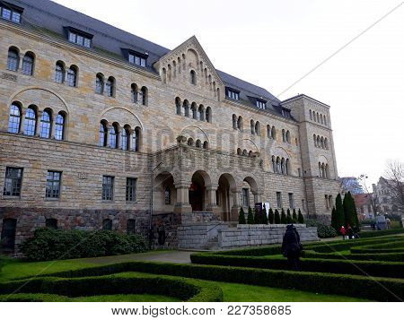 Poznan, Poland - December 02, 2017: The Imperial Castle Of Wilhelm Ii In Poznan