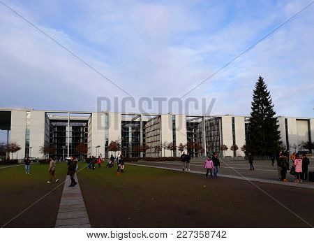 Berlin, Germany - December 3, 2017: The House Of Paul Lbe, The Auxiliary Building Of The German Parl