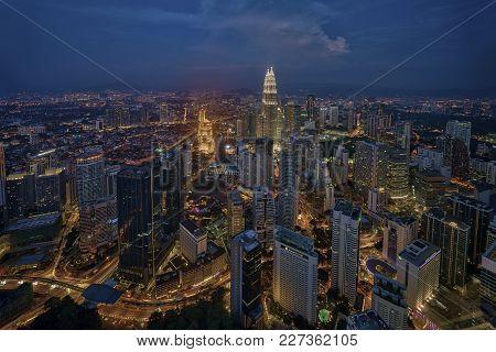 Kuala Lumpur, Malaysia - October 29, 2014: Kuala Lumpur City Skyline From The Observation Deck Of Kl