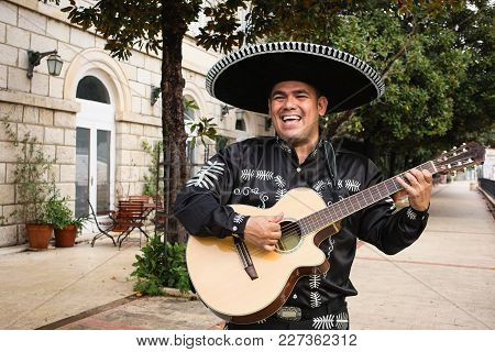 Mexican Musician Mariachi On A City Street