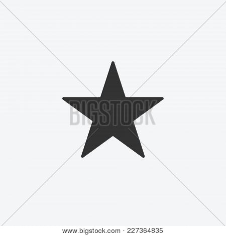 Star Isolated Flat Web Mobile Icon. Vector Graphic Illustration. Logotype, Logo