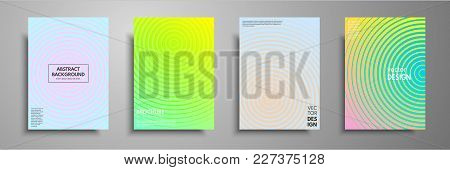 Minimal Colorful Cover Template Set. Abstract Design Template For Brochures, Flyers, Banners, Header