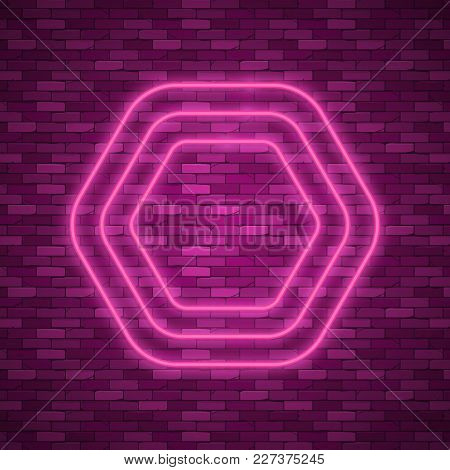 Line Neon Background. Border With Light Effects. Vector Illustration For Your Business Presentations