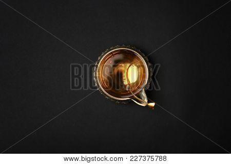 Diwali diya or clay lamp on dark background