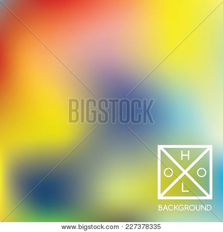 Holographic Backdrop. Holo Iridescent Cover. Abstract Soft Pastel Colors Backdrop. Minimal Creative