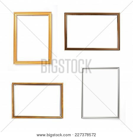 Set Of Frames For Paintings Or Photographs On White Background