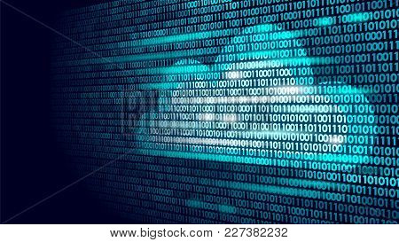 Cloud Computing Online Storage Binary Code Numbers. Big Data Information Future Modern Internet Busi