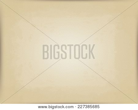 Vector Horizontal Background Of Old Postal Paper. Imitation Of Old Printing Press