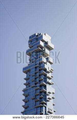 New York, Usa - August 30, 2017: 56 Leonard Street Skyscraper In Tribeca, New York City. This 250m T