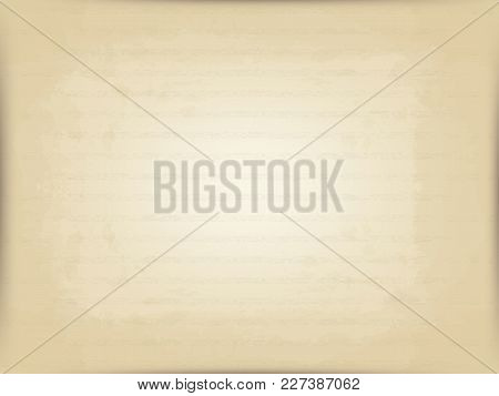 Vector Horizontal Background Of Old Beige Postal Paper. Imitation Of The Old Printing Press. Wide Ho
