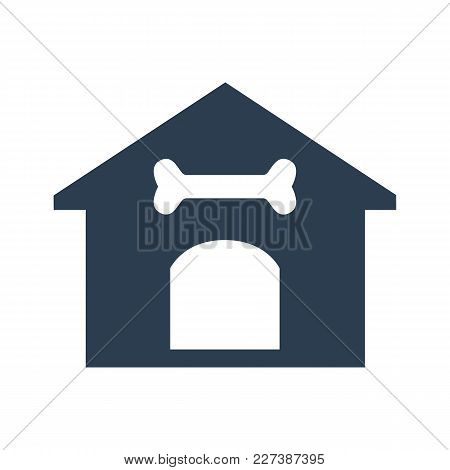 Dog House Icon On White Background.