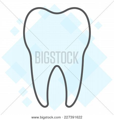 Tooth Thin Line Icon, Stomatology And Dental, Healthy Dent Sign Vector Graphics, A Linear Pattern On