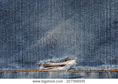 Piece Of Jeans To Be Used As A Background.