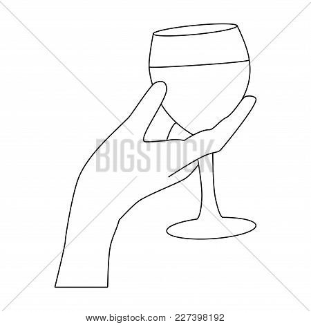 Tasting Red Wine - Illustration With A Woman Who Taste A Glass Of Red Wine