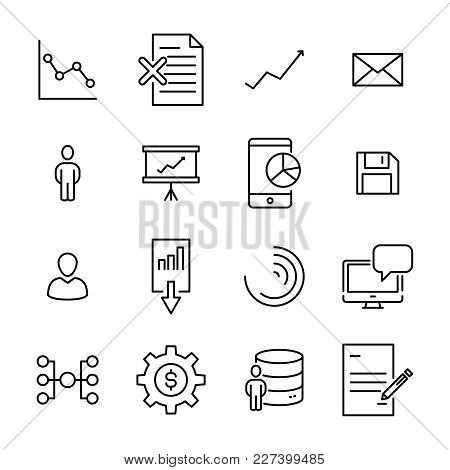 Simple Collection Of Leadership Related Line Icons. Thin Line Vector Set Of Signs For Infographic, L