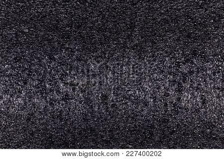 Texture Of Black Polystyrene Foam