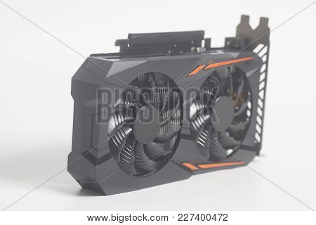 Graphic Videocard For Crypto Currency Mining On White