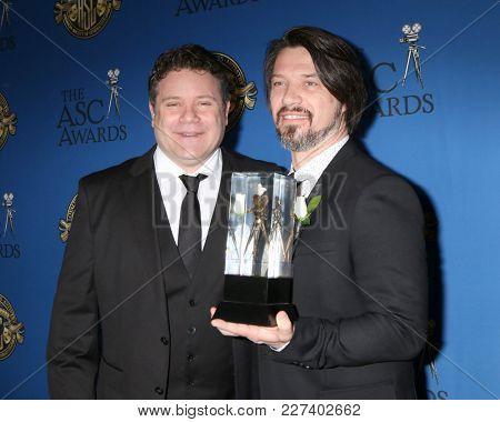 LOS ANGELES - FEB 17:  Sean Astin, Boris Mojsovski at the 32nd American Society of Cinematographers Awards at Dolby Ballroom on February 17, 2018 in Los Angeles, CA
