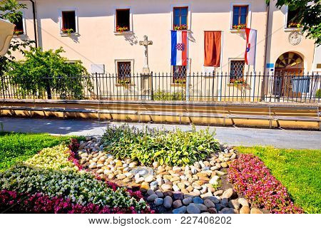 Town Of Cakovec Square And Church Details View, Medjimurje Region Of Croatia