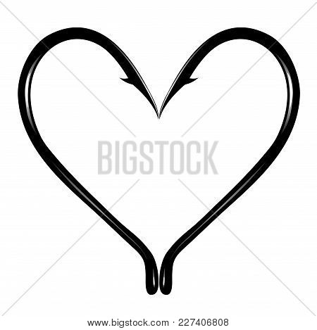 Associative Character Of Prickly Heart On A White Background