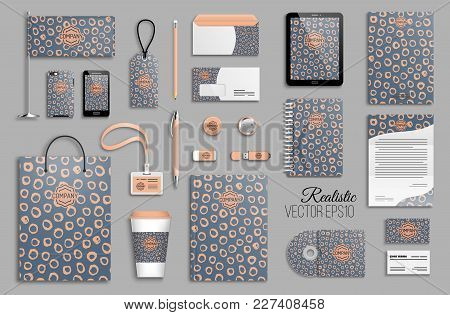 Corporate Identity Template Set. Business Stationery Mock-up With Logo. Branding Design. Trendy Hand