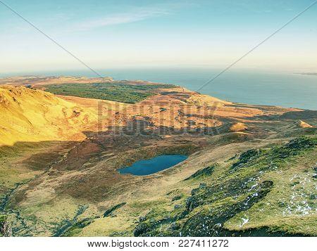 Typical Morning Landscape In The Scottish Higlands, Isle Of Skye, Scotland